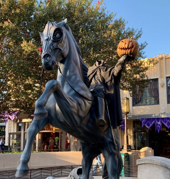 Headless horseman at Disney California Adventure