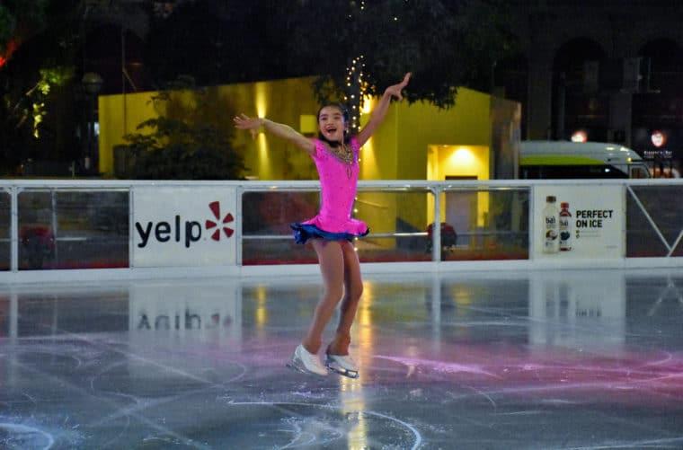 Pershing square ice rink with kana okubo