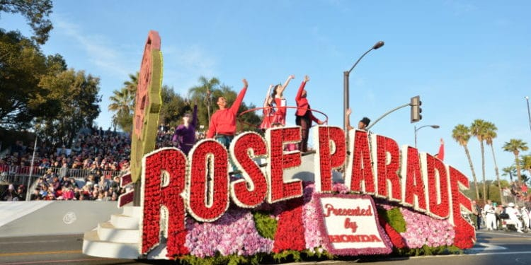 rose parade opening show float