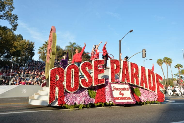 Opening show of the Rose Parade, photo courtesy of the Tournament of Roses