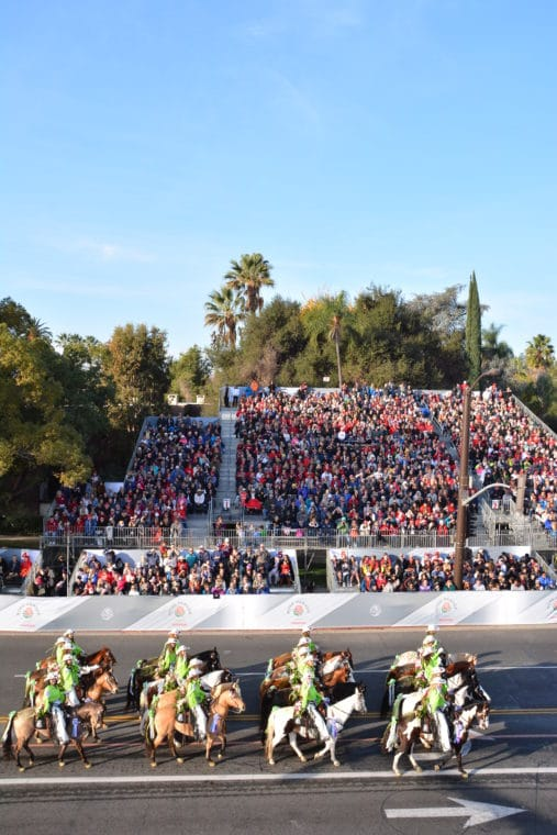 Norco Cowgirls and the Little Miss Norco Cowgirls Rodeo Drill Teams at 129th Rose Parade, photo courtesy of the Tournament of Roses