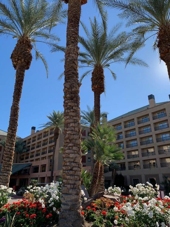 front of hotel Renaissance Esmeralda Resort & Spa at Indian Wells
