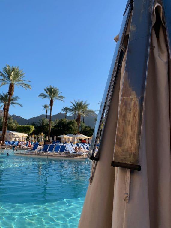 pool showing solar panels on umbrella Renaissance Esmeralda Resort & Spa at Indian Wells