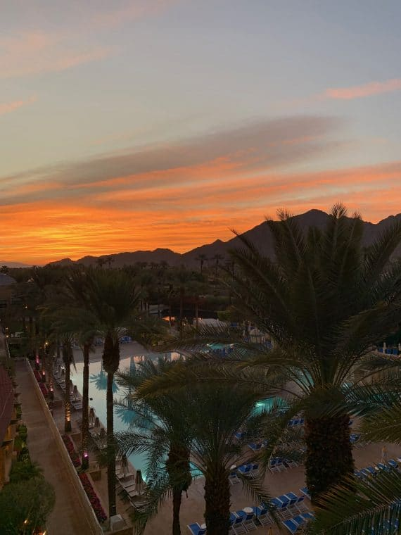 sunrise in the desert Renaissance Esmeralda Resort & Spa at Indian Wells