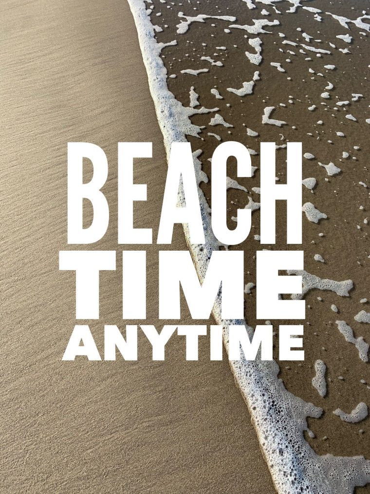 beach time anytime graphic