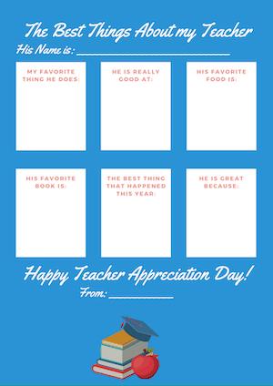 blue teacher appreciation form