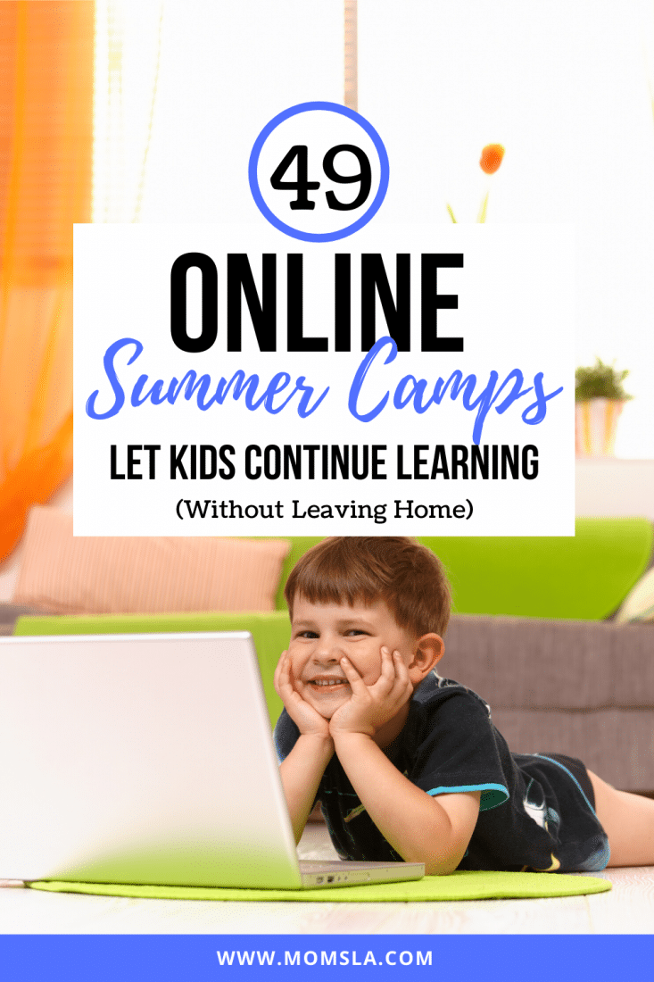 online summer camps PIN image