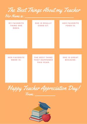 orange teacher appreciation