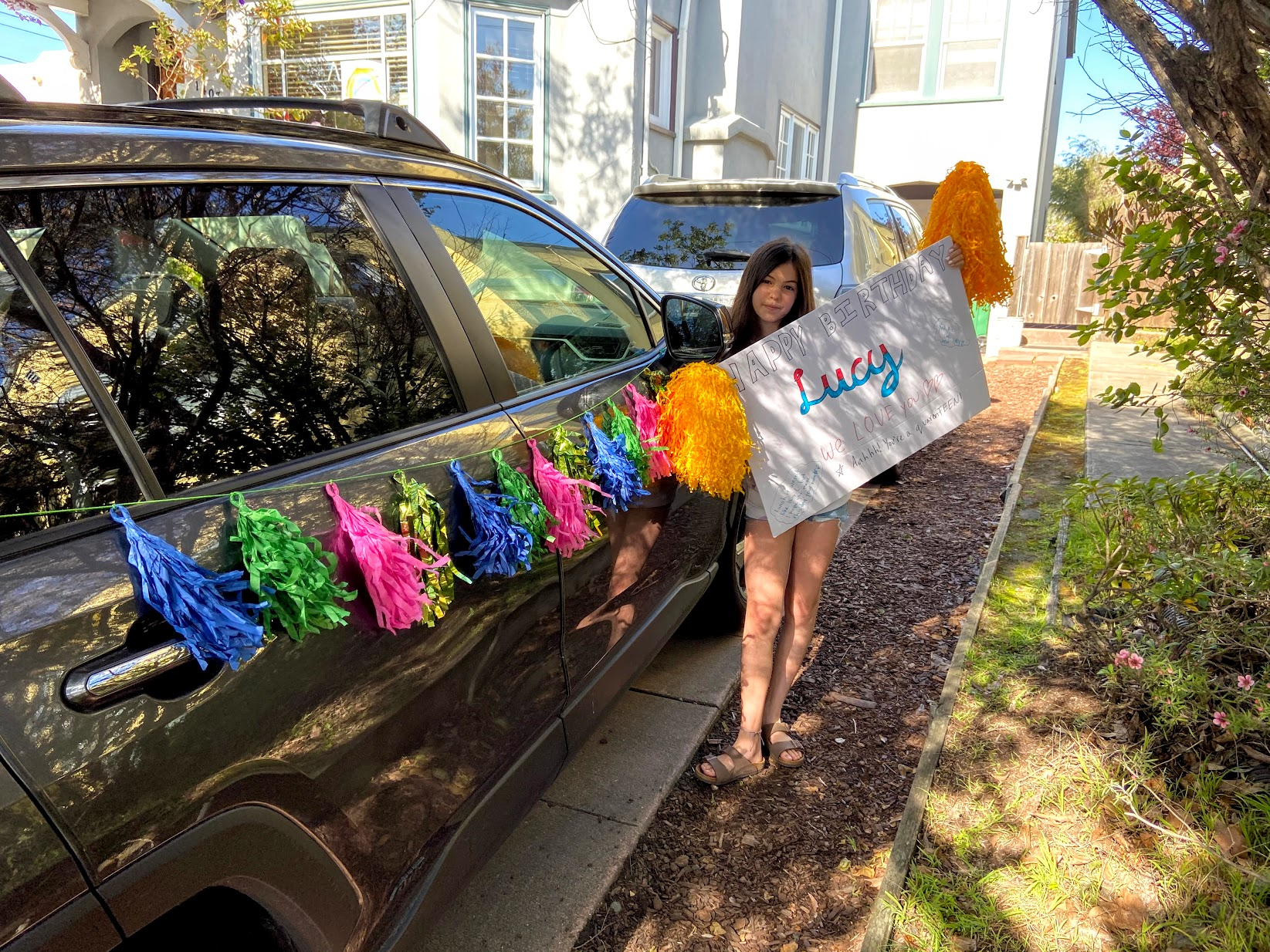 Car Parade for Lucy in Berkeley