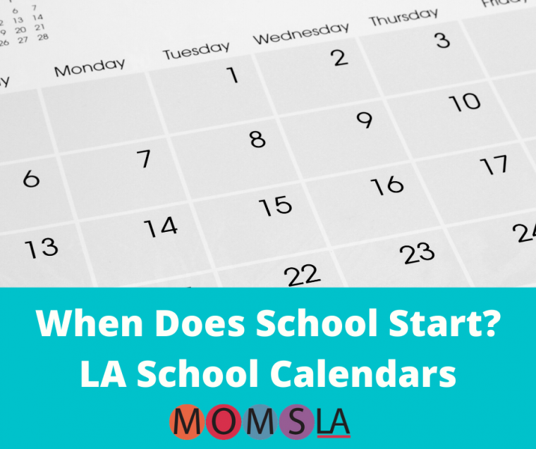 los angeles school calendars