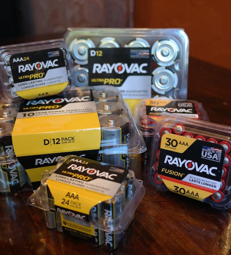 ray o vac batteries for emergency kit
