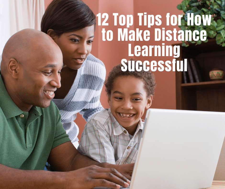 distance learning tips with black family