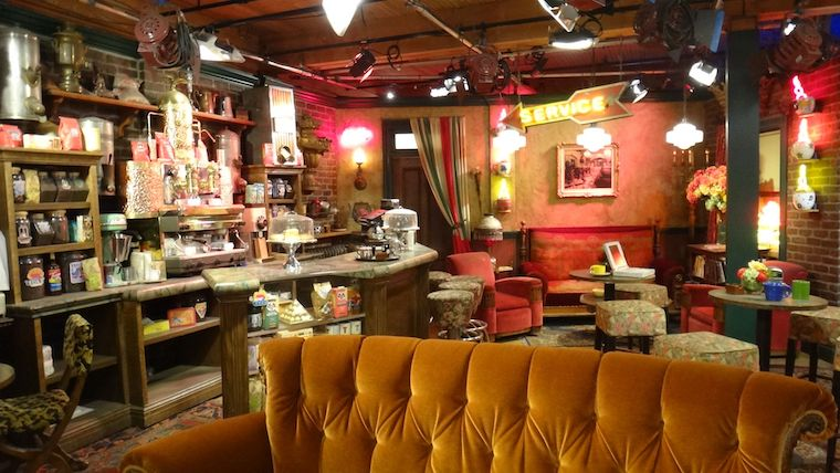 """Central Perk set from """"Friends"""" on Warner Bros Tour"""