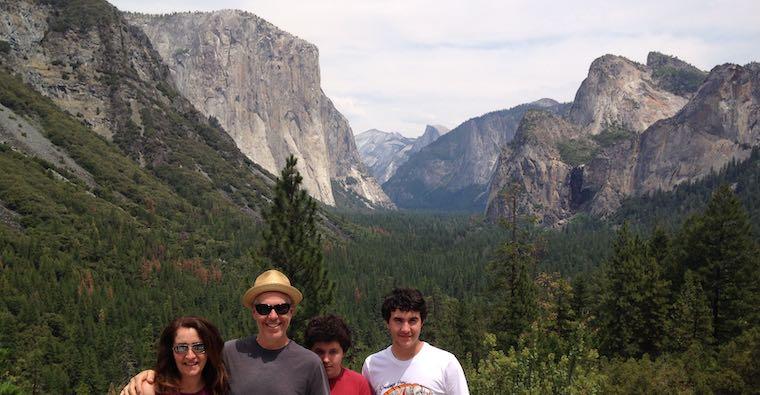 Yosemite valley family pose