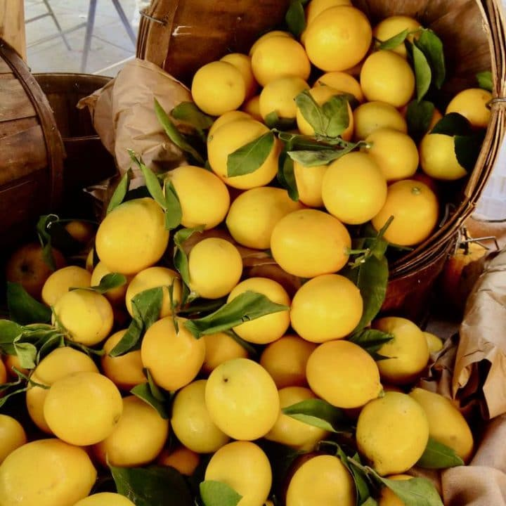 lemons for sale at mar vista framers market
