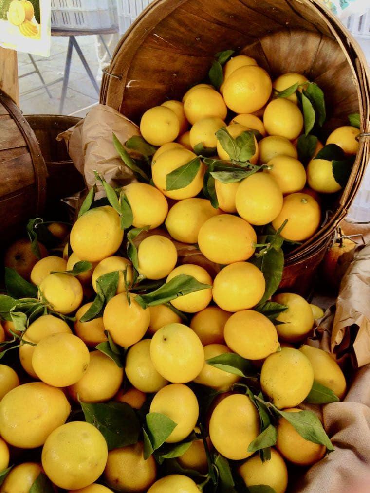 lemons for sale at mar vista farmers market