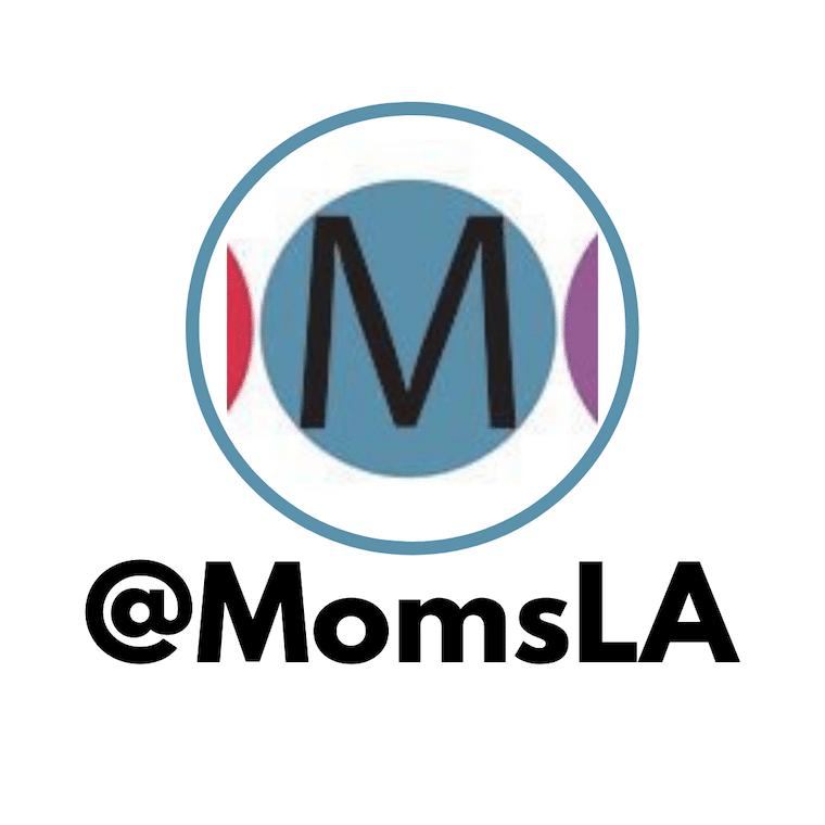 MomsLA logo letter M in a circle