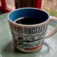coffee in a los Angeles mug