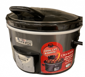 crock pot with hinged lid