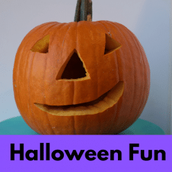 halloween fun in Los Angeles smiling pumpkin IG link
