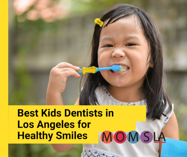 girl brushing teeth best dentists in los angeles