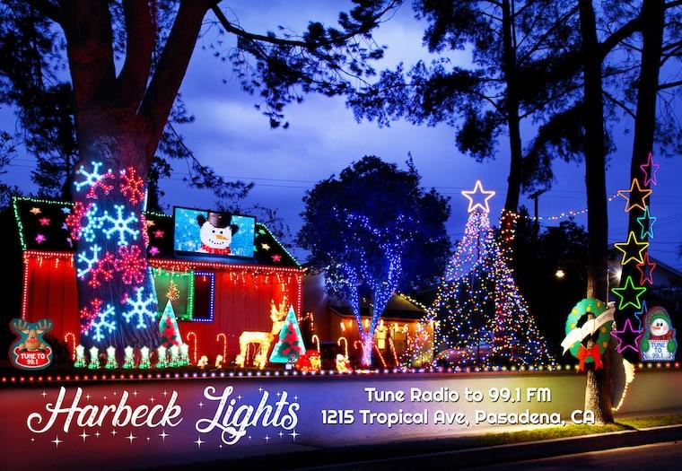 Harbeck Christmas lights in Pasadena