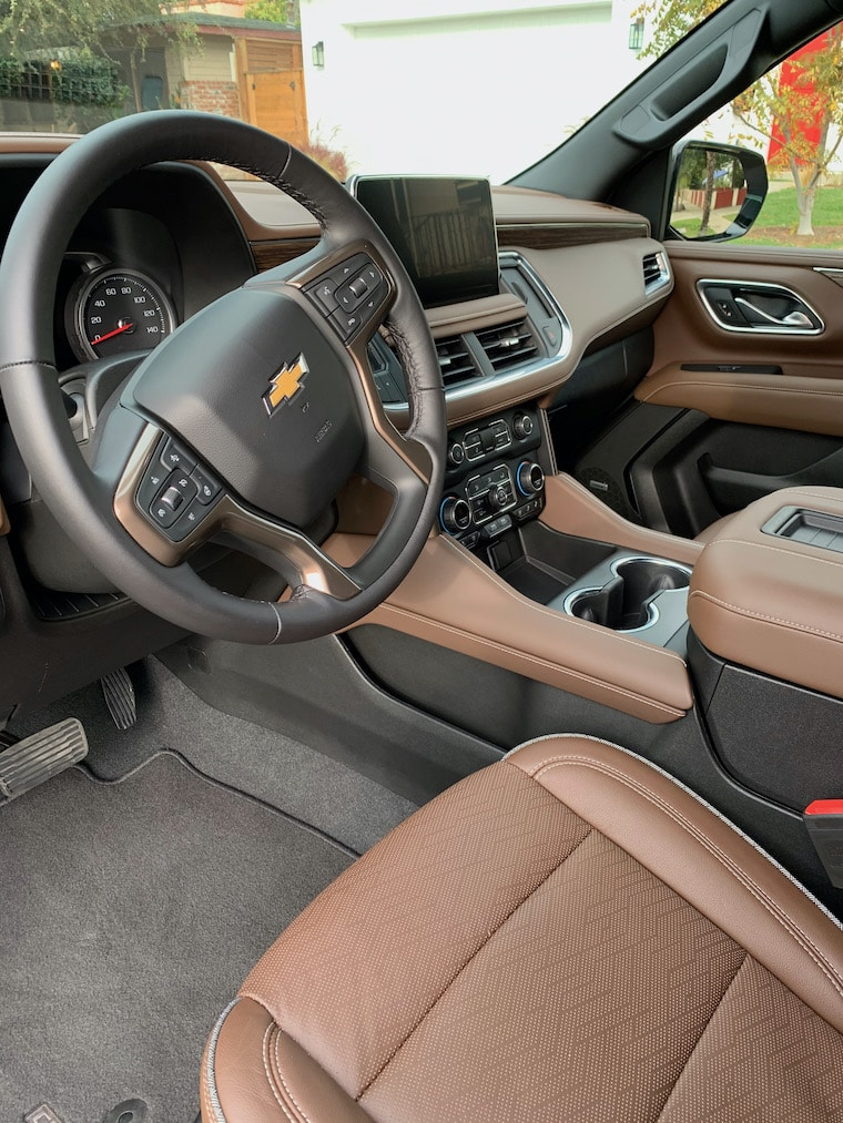 Chevy Suburban interior showing driver's side and console