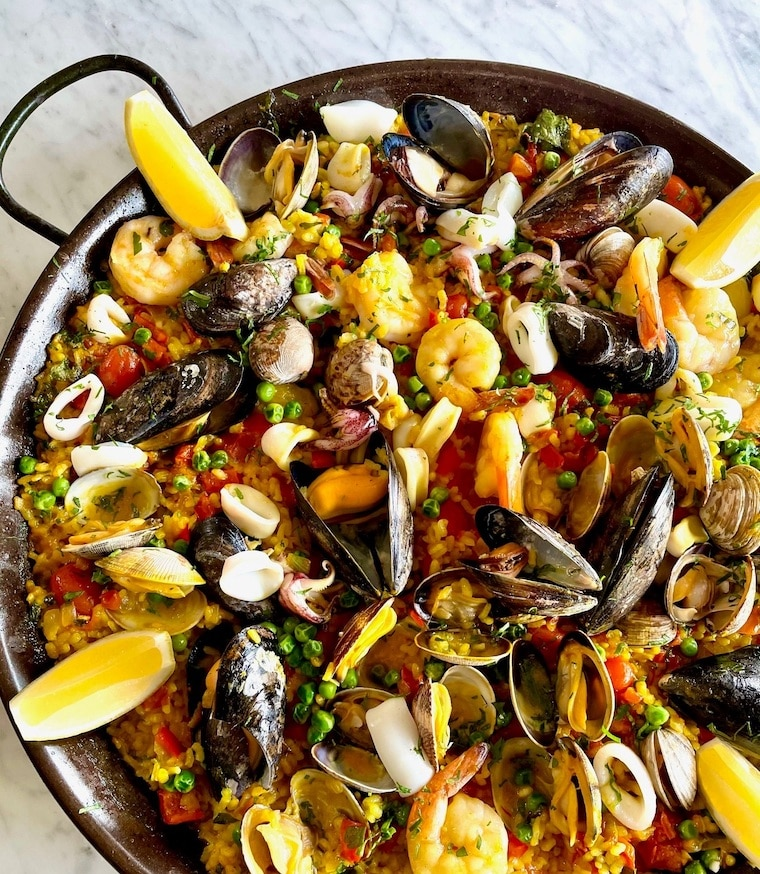 Family-style Paella from Shutters on the Beach and Hotel Casa del Mar