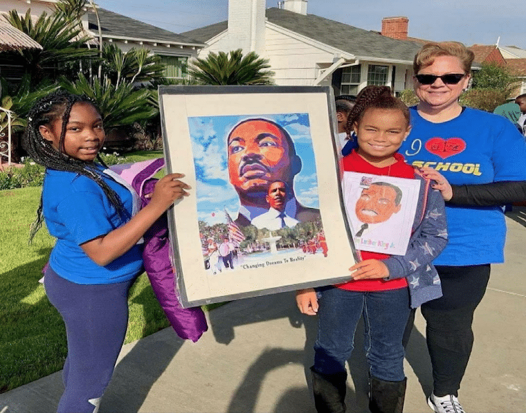 Dr. Martin Luther King Day Peace March at Tom Bradley Elementary School