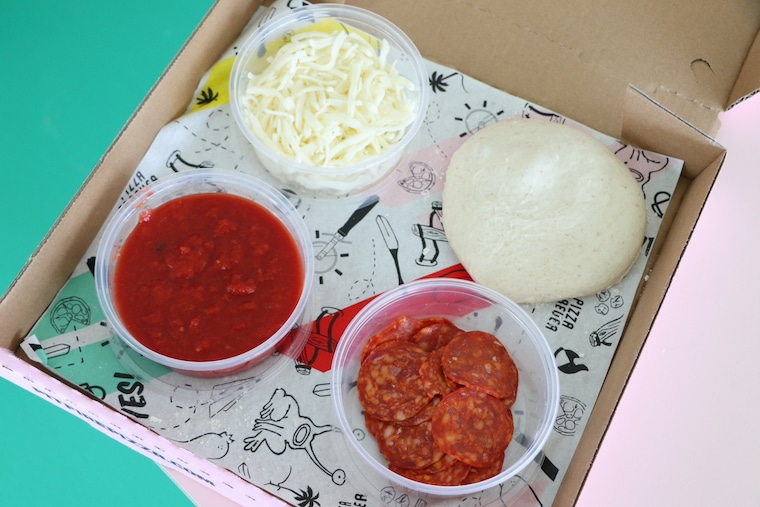 Pizza making kit for kids from Pitfire Pizza