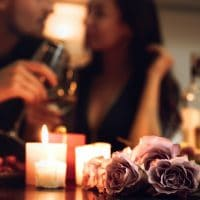 candlelight date at home