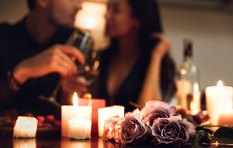 Romantic Candlelight Dinner at Home
