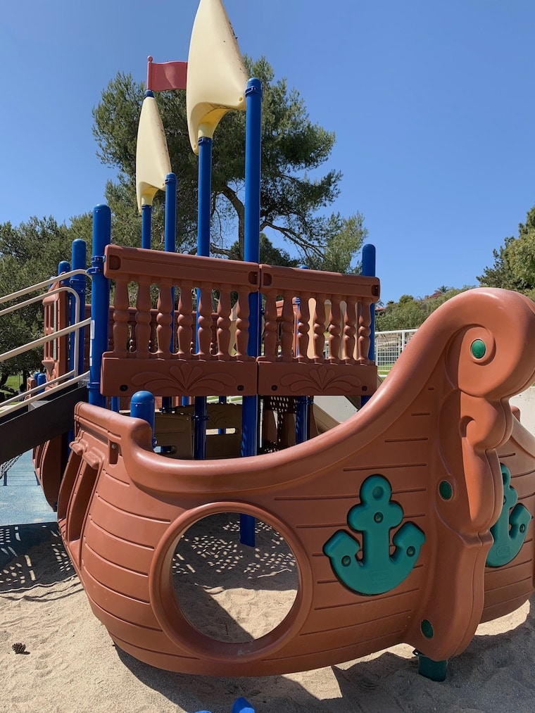 Nautical play structure at Robert E. Ryan Community Park in Rancho Palos Verdes