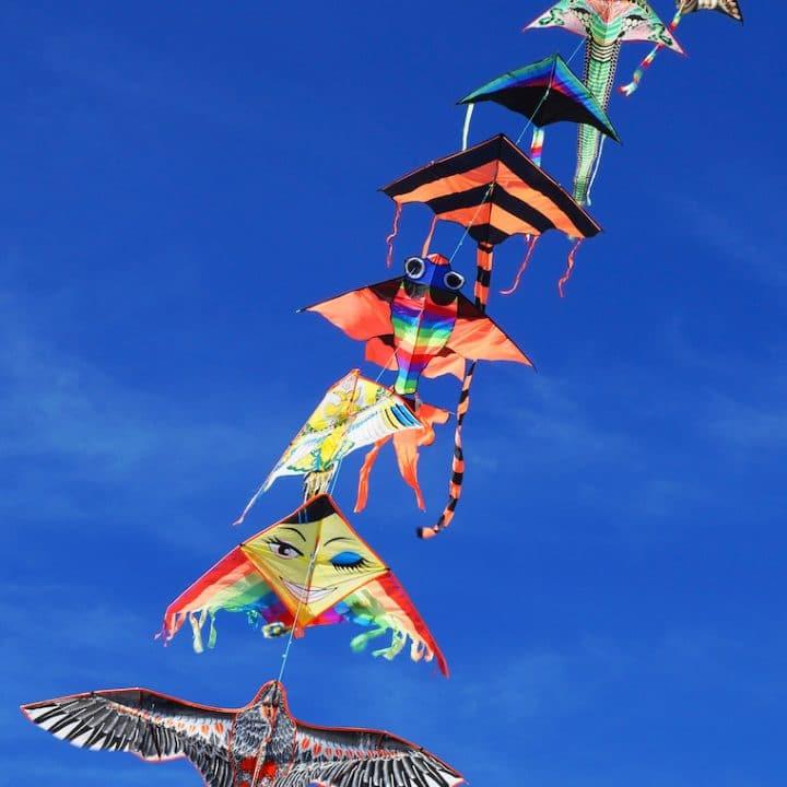 kite in blue sky