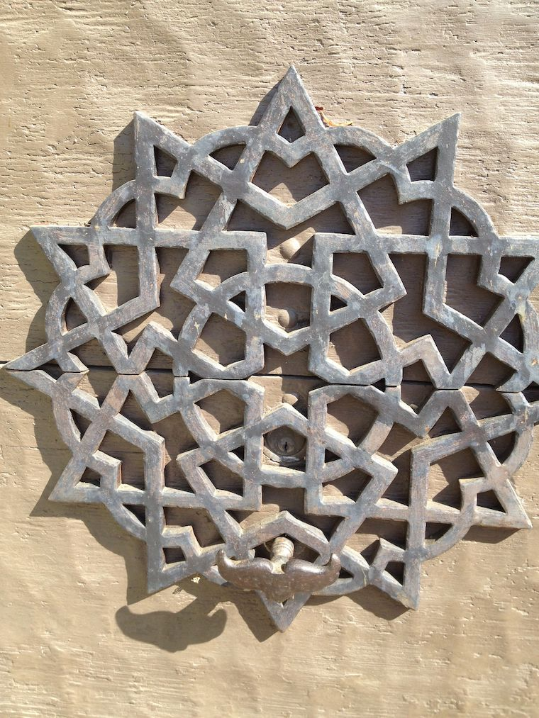 architectural detail at Adamson house in Malibu - metal shaped in star pattern