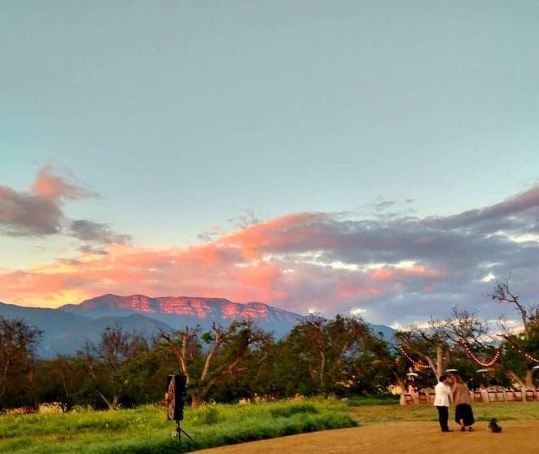 sunset at the black walnut ranch vrbo Ojai