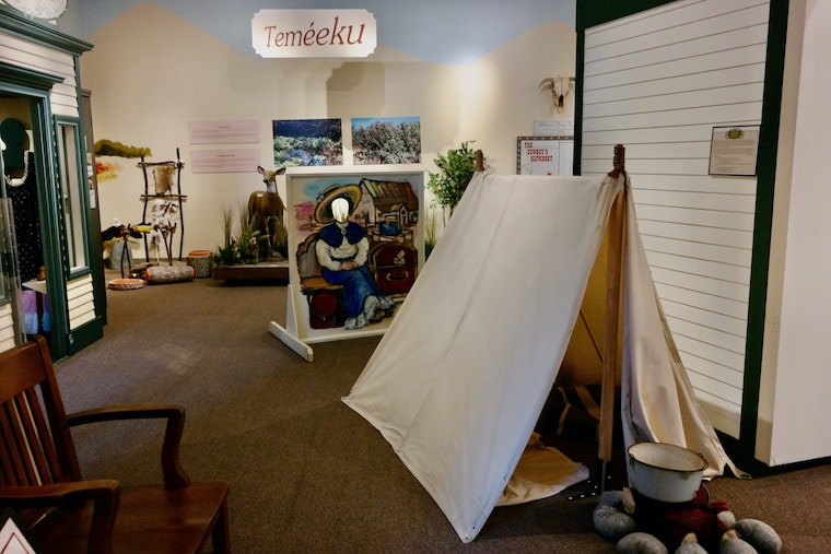 Kids' history play area at Temecula Museum