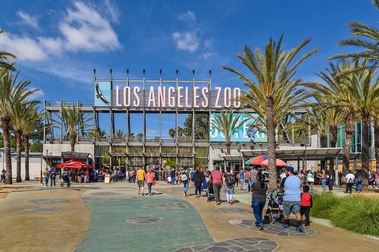 Los Angeles zoo entrance
