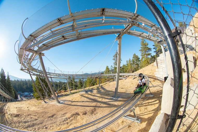 The Mineshaft Coaster at Alpine Slide in Big Bear (photo courtesy of Alpine Slide)