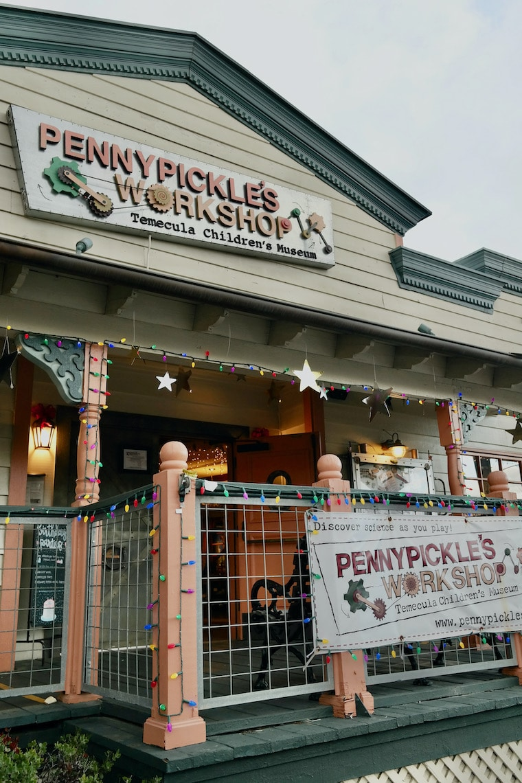 front entrance of Penny Pickle's workshop in Temecula
