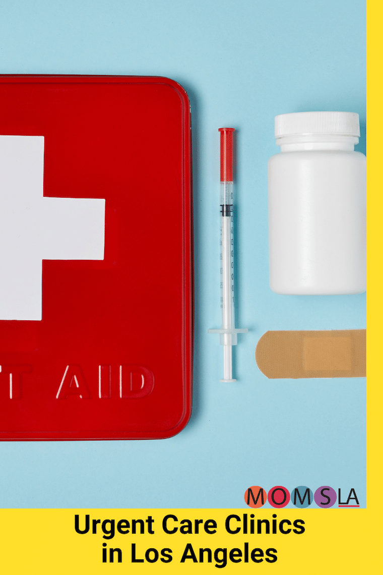 items from a first aid kit text urgent care clinics in Los Angeles
