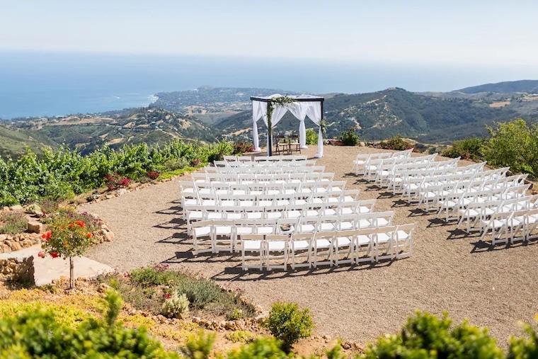 vrbo Tuscan style Malibu estate for weddings and retreats