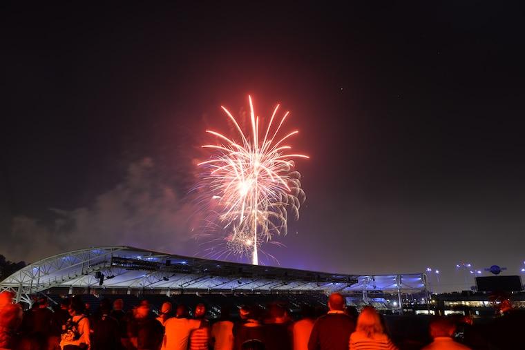 Fireworks courtesy of the LA Galaxy