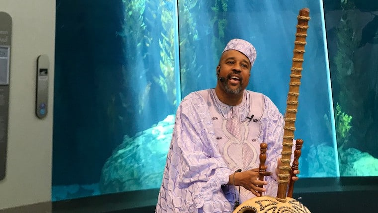 Baba the Storyteller for Juneteenth at the Aquarium of the Pacific