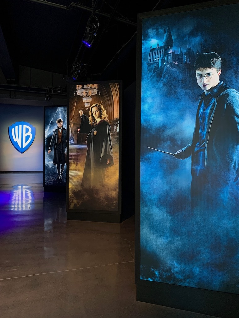 Characters from Harry Potter and the Fantastic Beasts movies greet you as you enter the new Action and Magic section of the Warner Bros. Studio Tour