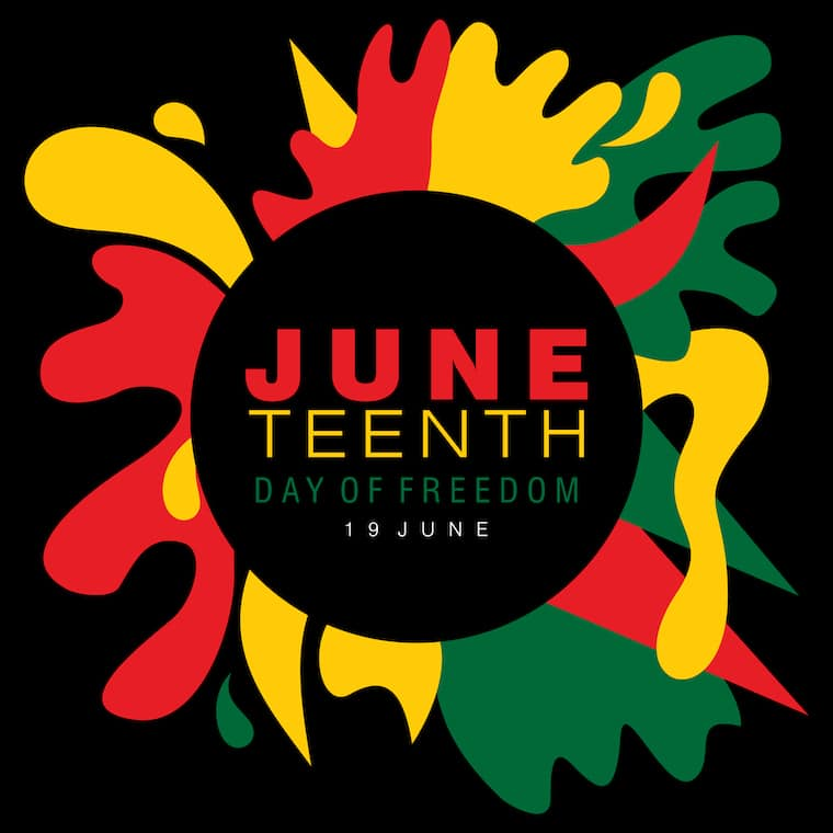 Juneteenth day of freedom graphic image