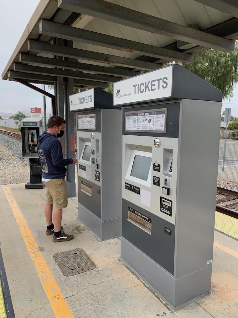 Metrolink Ticket machine at the Moorpark Station