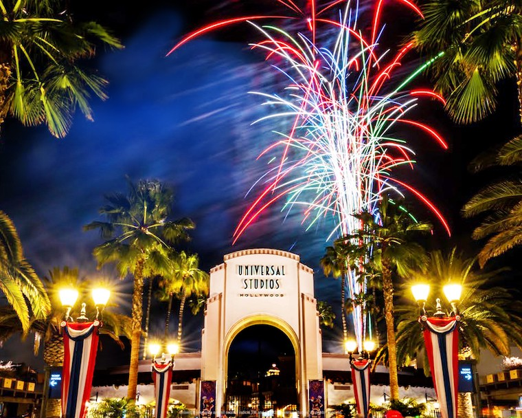 Universal Studios Hollywood 4th of July fireworks