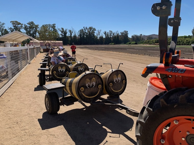 the Bee Train at Underwood Family Farms
