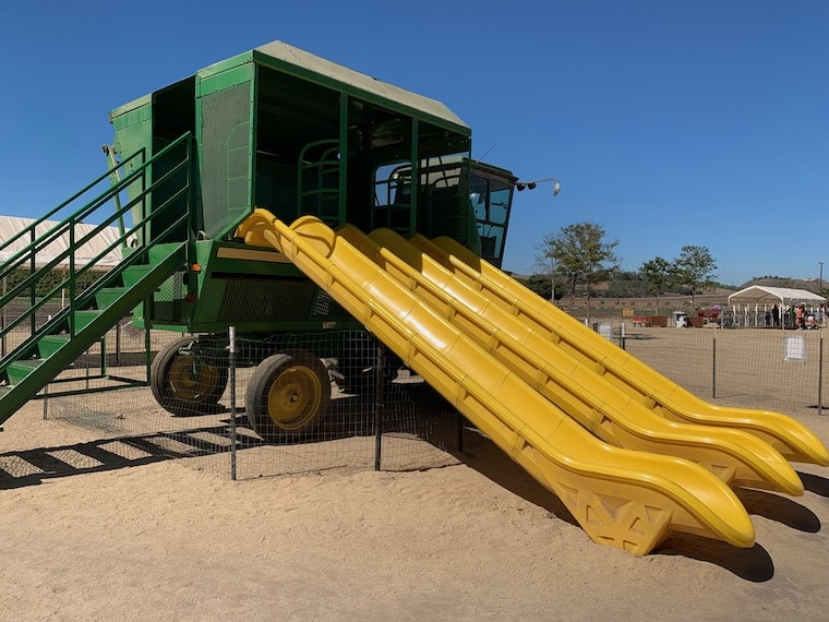 one of the fun slides at Underwood Family Farms